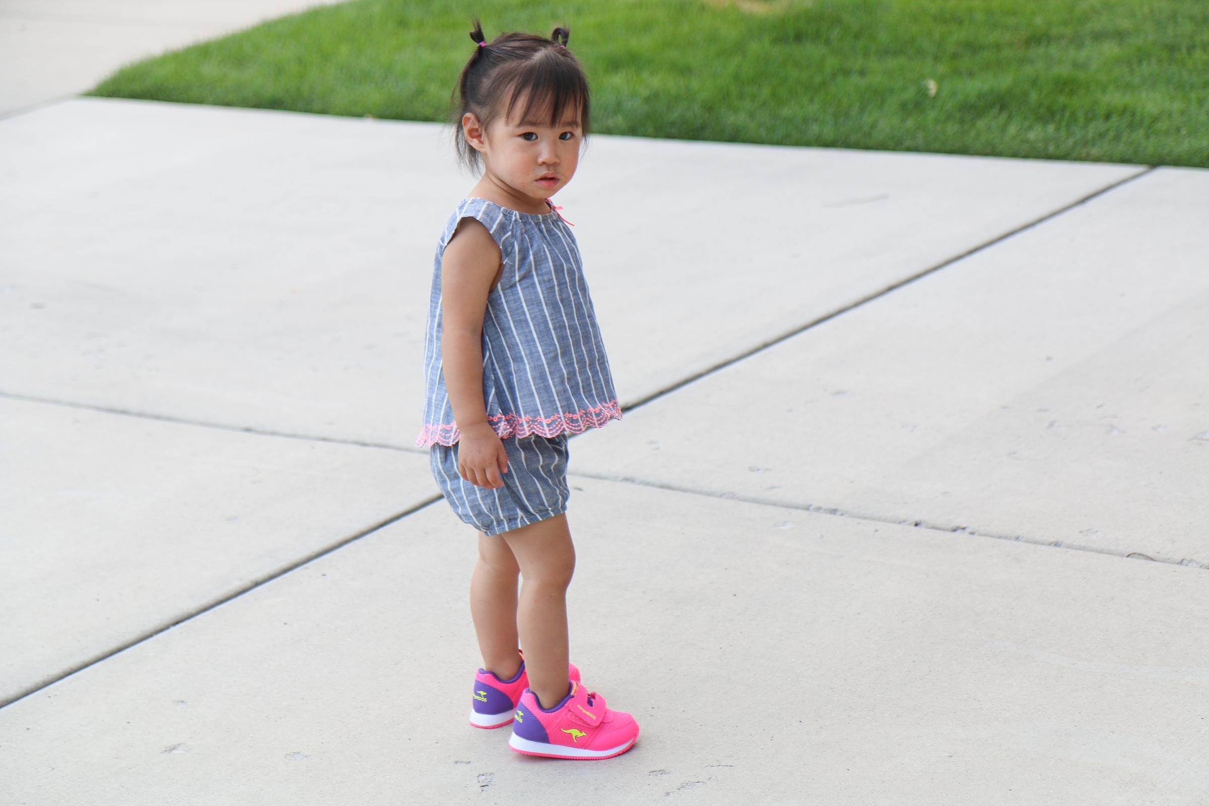 Baby girl sporting KangaROOS