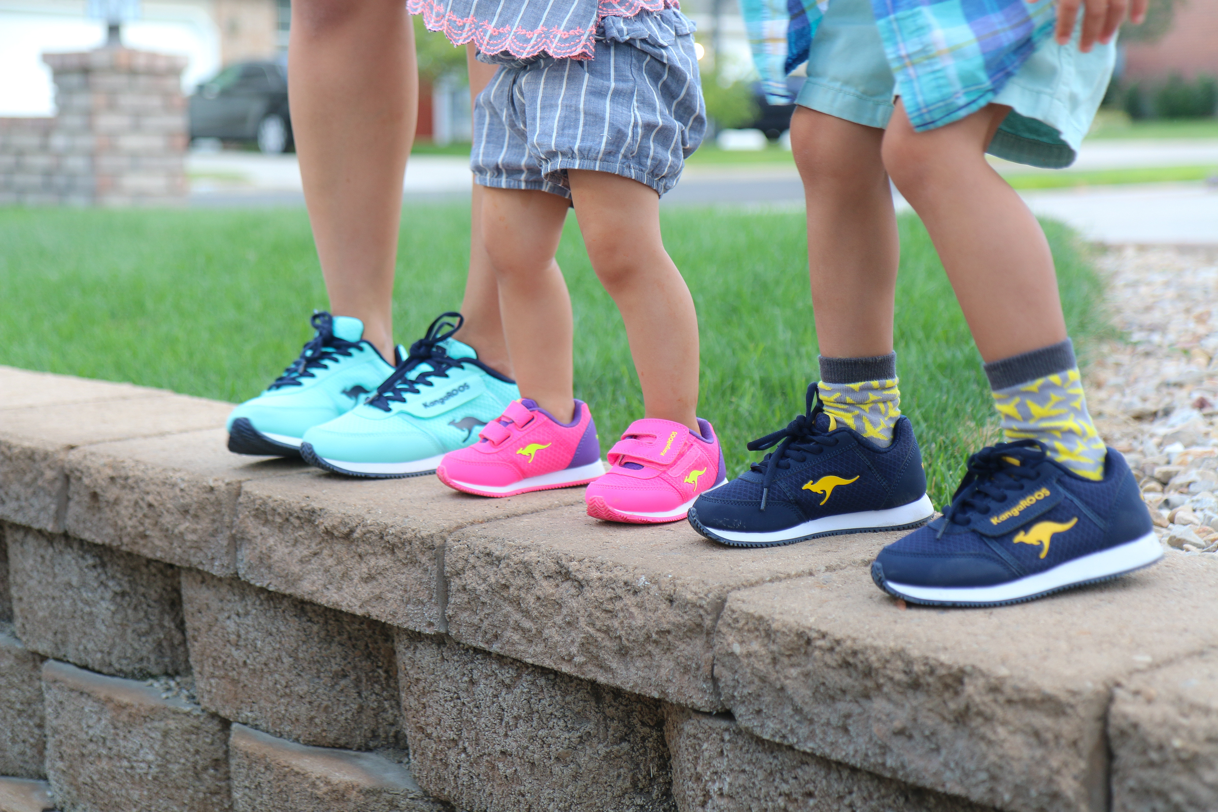 Family wearing Payless Shoes