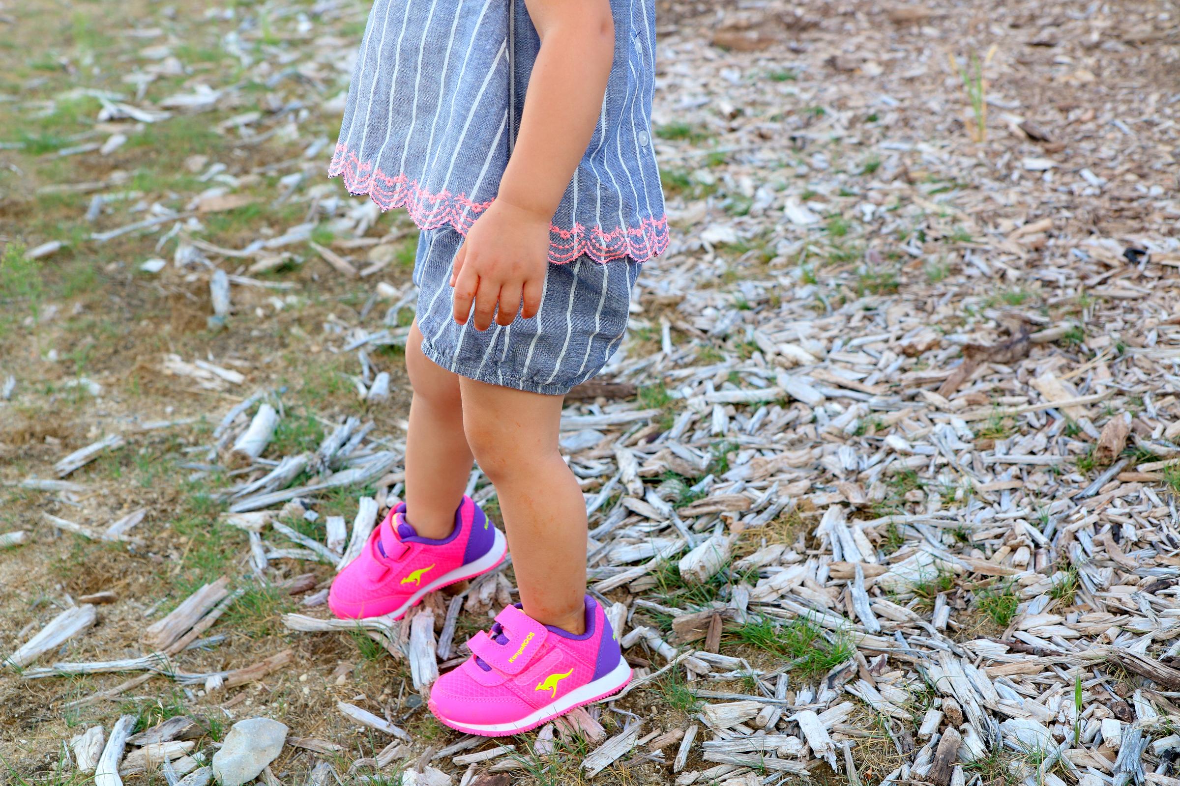 Baby girl wearing KangaROOS