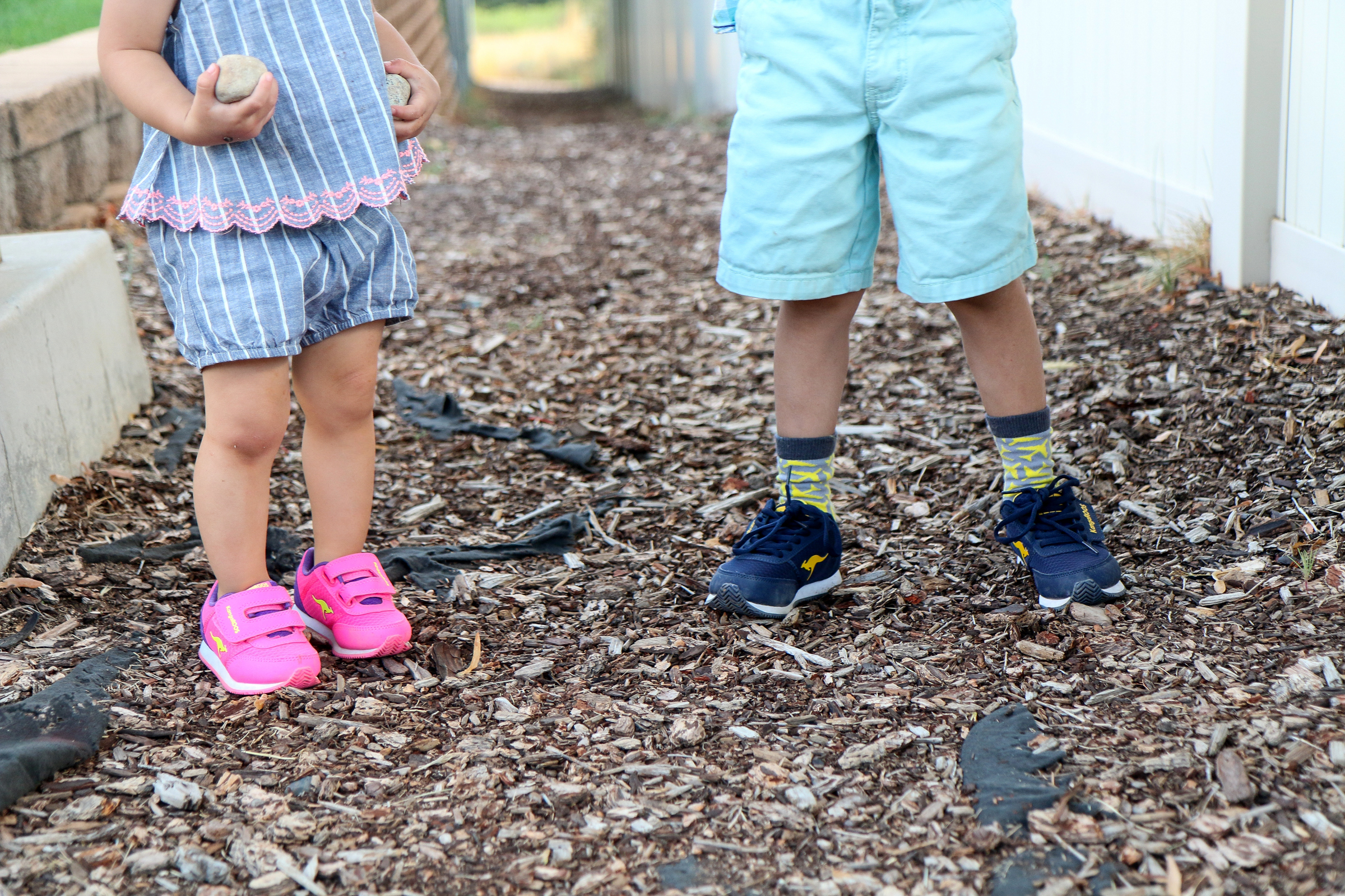 Kids wearing Payless shoes