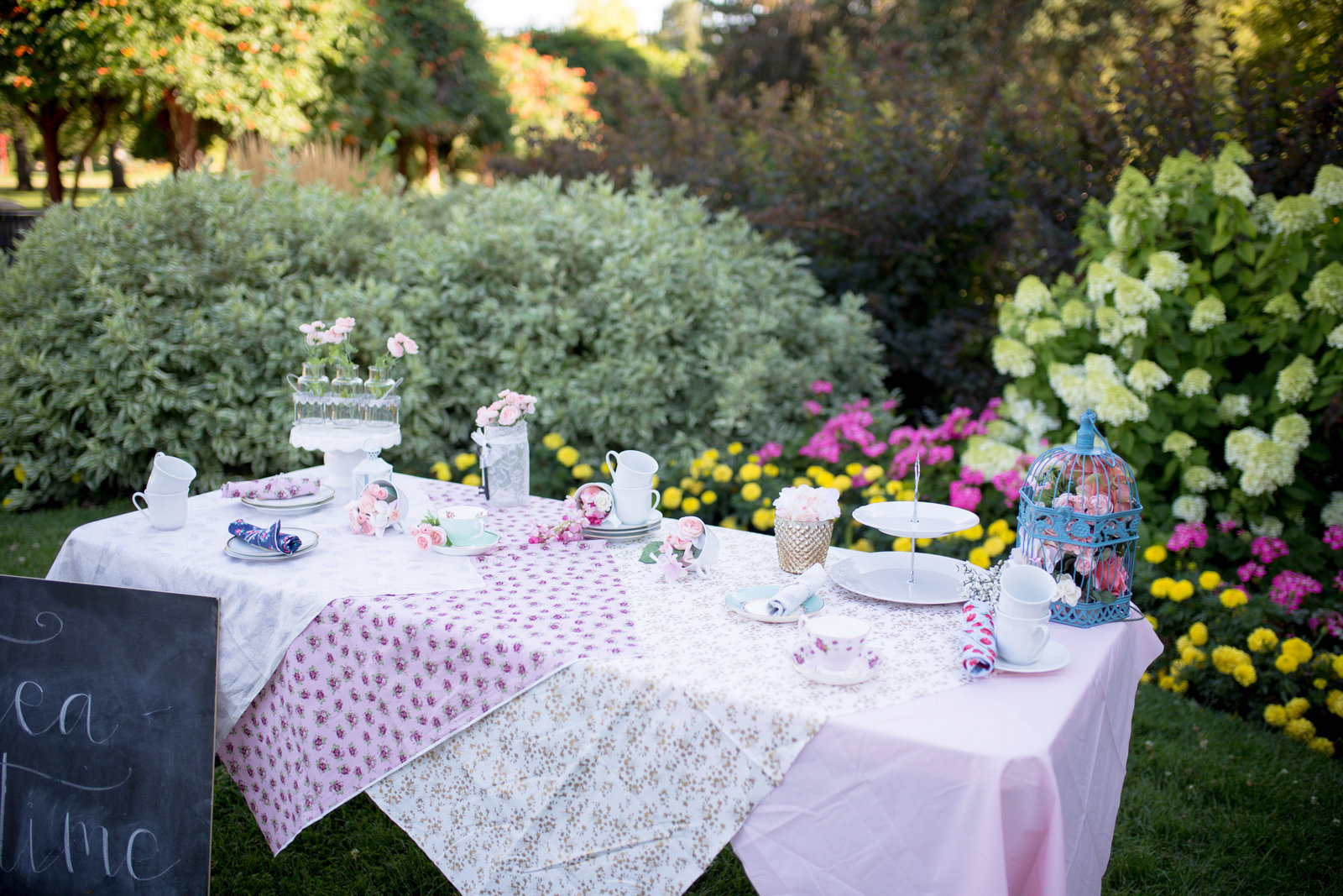 Tea party table setup
