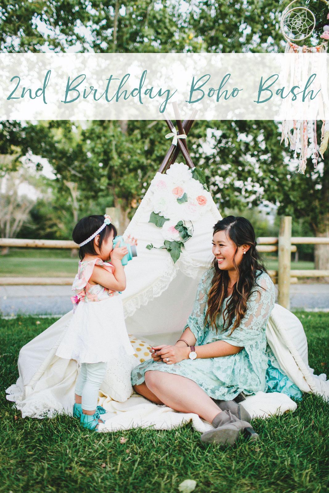 2nd Birthday Boho Party - Bohemian Birthday Party