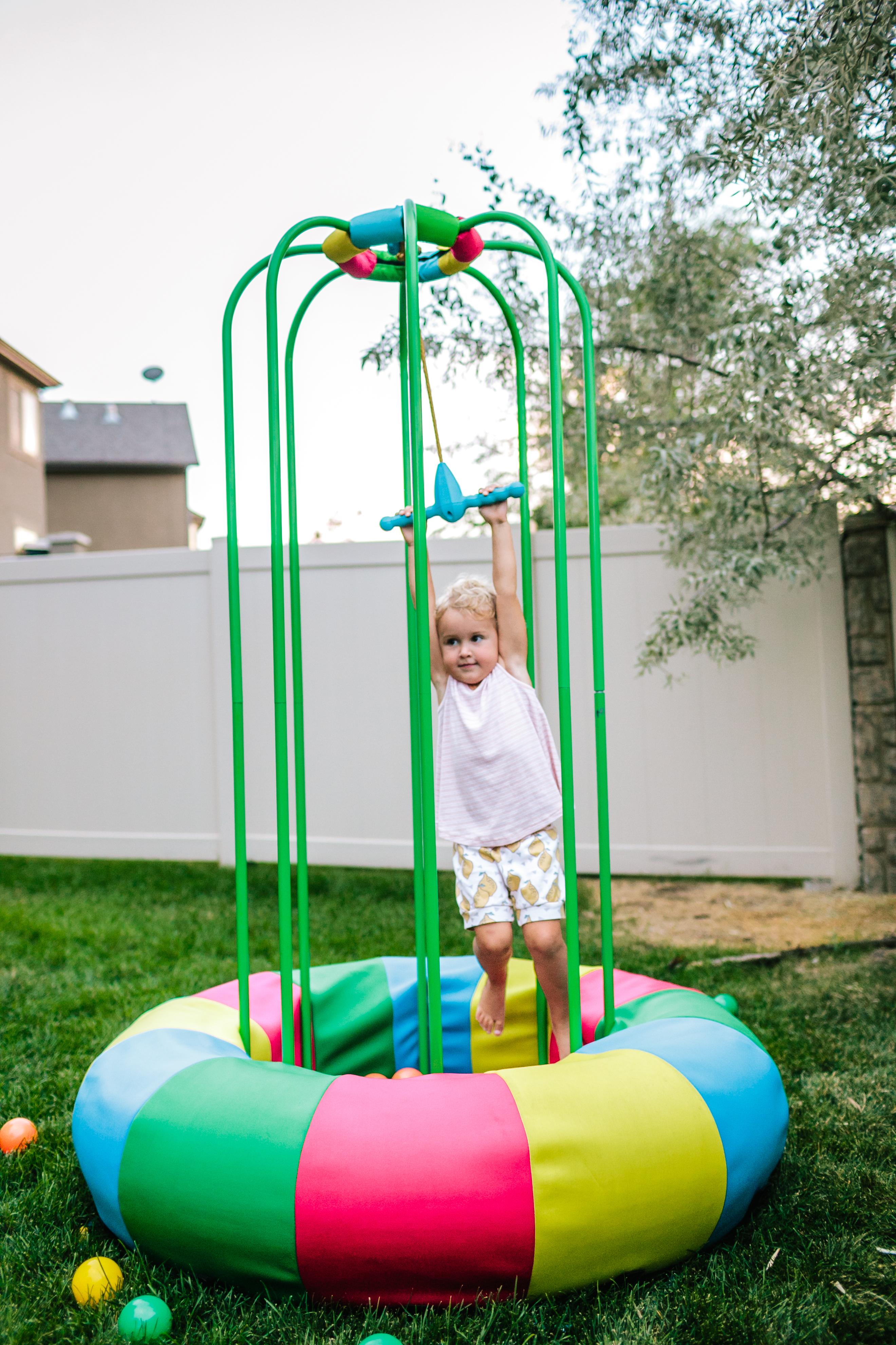 Swinging on Jungle Jumparoo