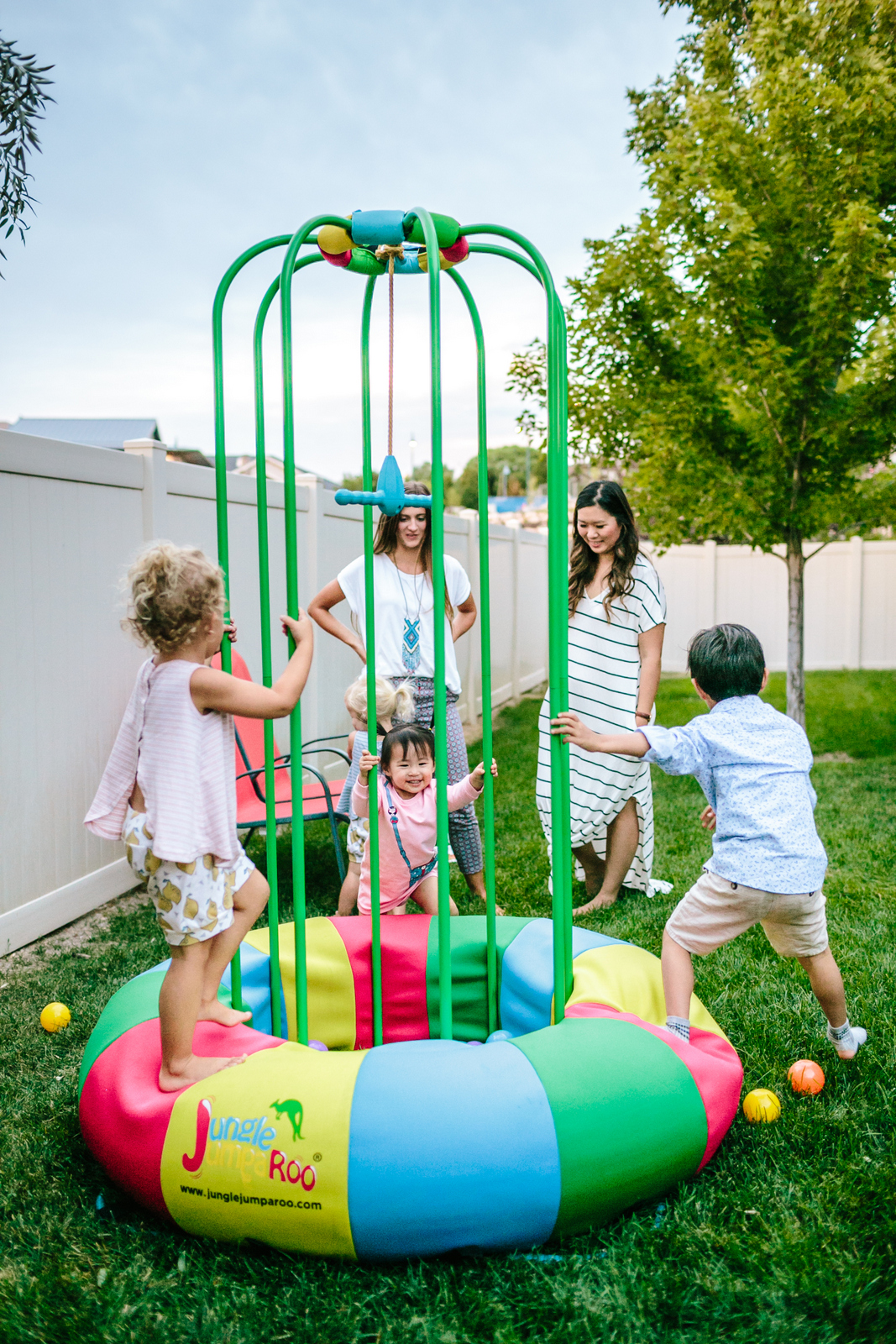Kids playing on Jungle Jumparoo