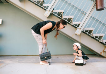 Mommy and Me Outfits: Fantastic Black and White Outfit + Linkup!