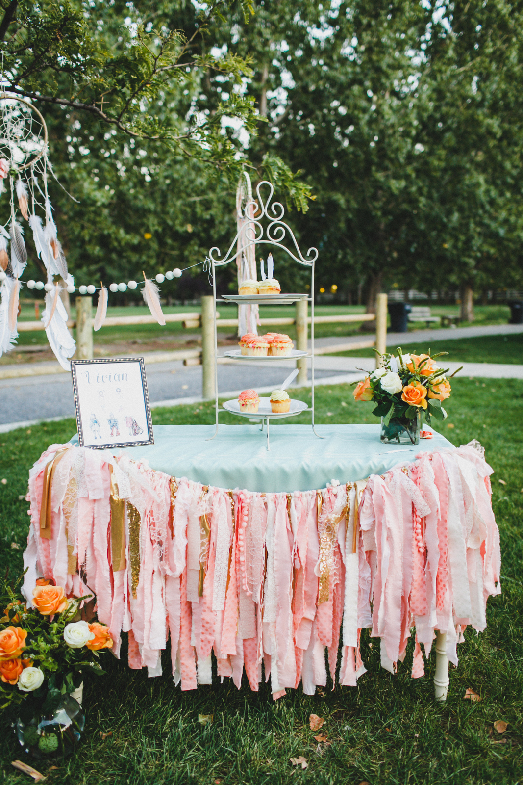 Pearl and Jane Banners at Boho Birthday Party - Photo by Summer Nicole Photo