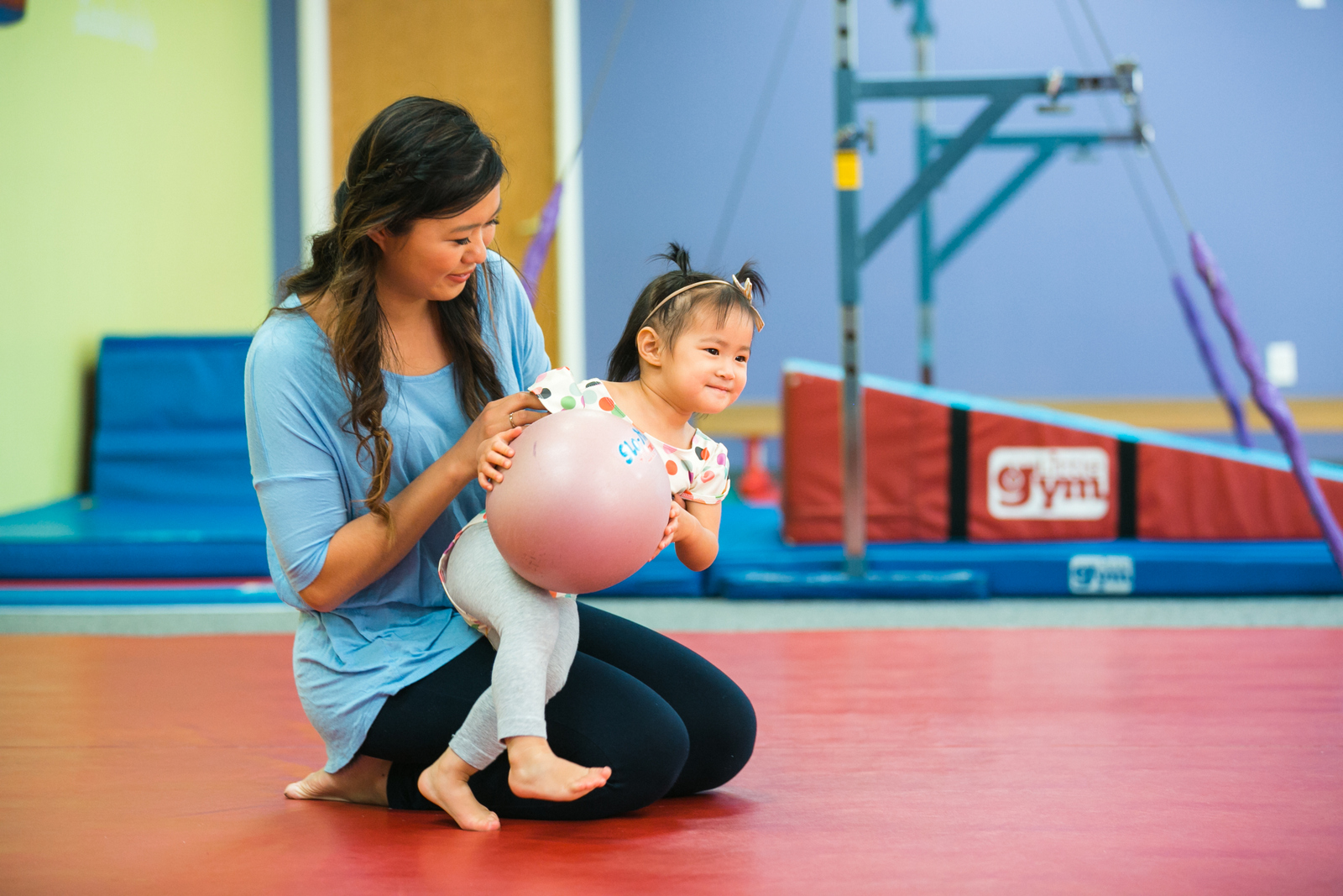 Super Beasts Parent Child class at The Little Gym
