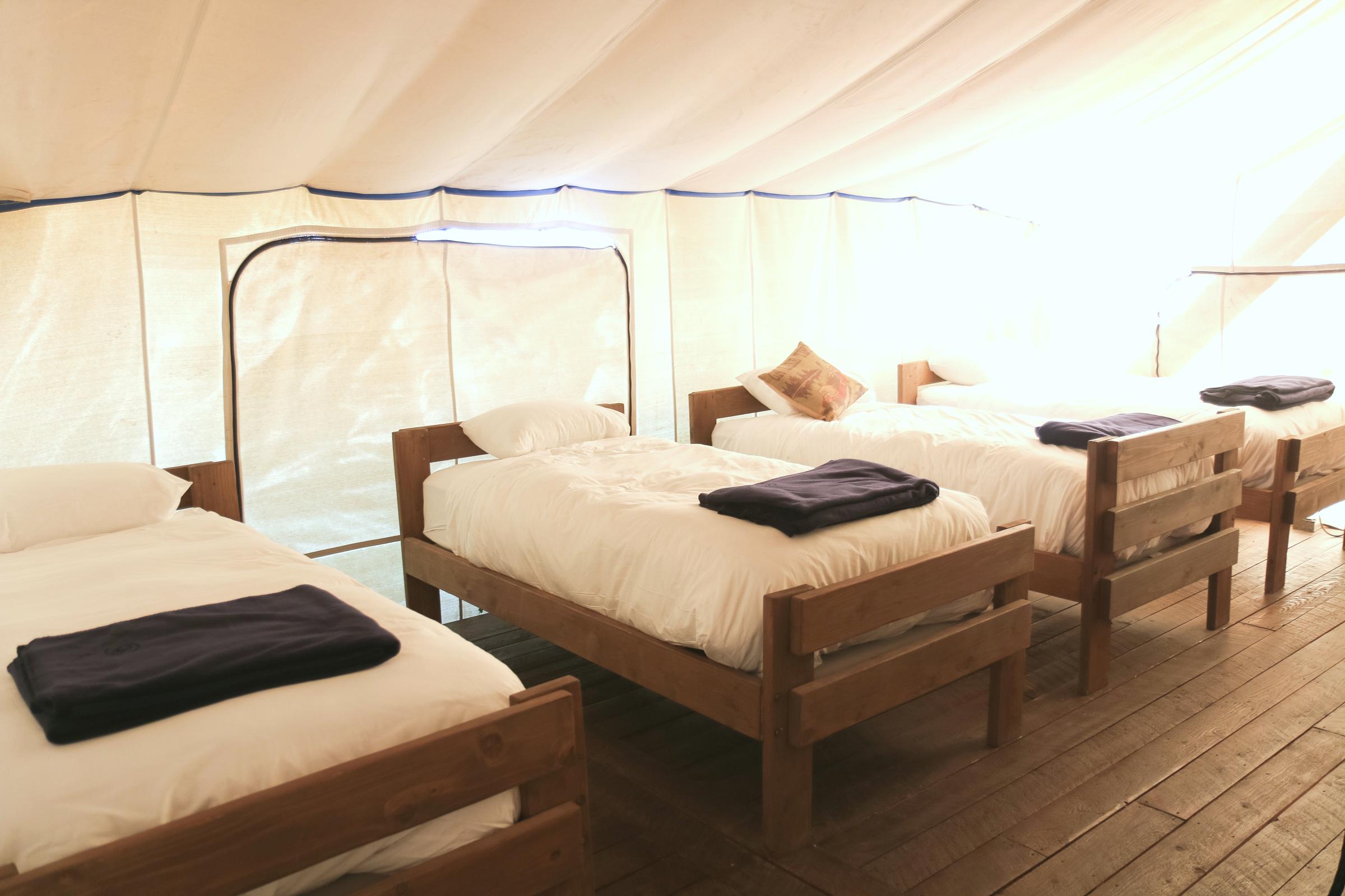 Inside the Grand Tent at Conestoga Ranch
