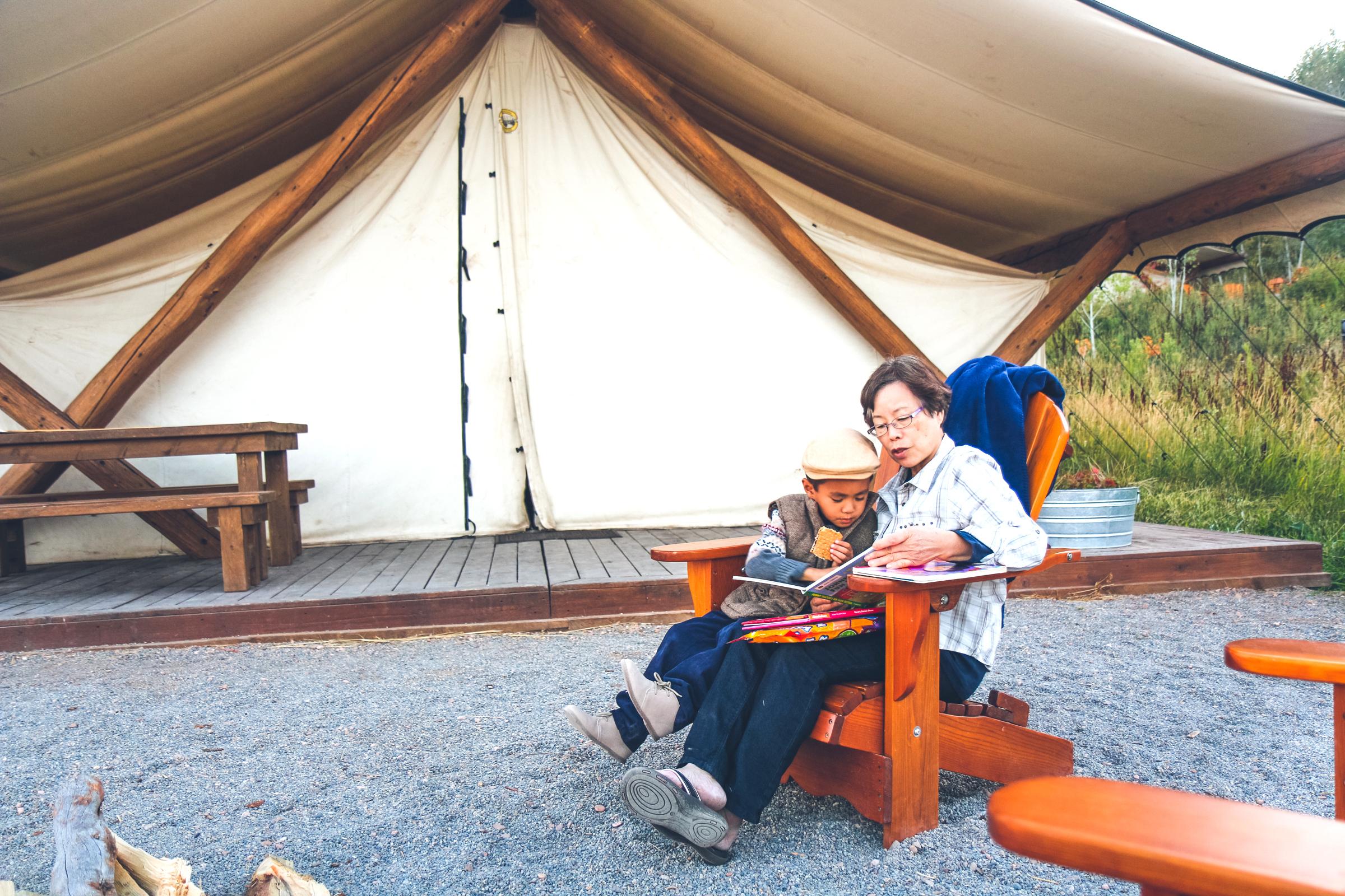 S'mores at Conestoga Ranch on Bear Lake