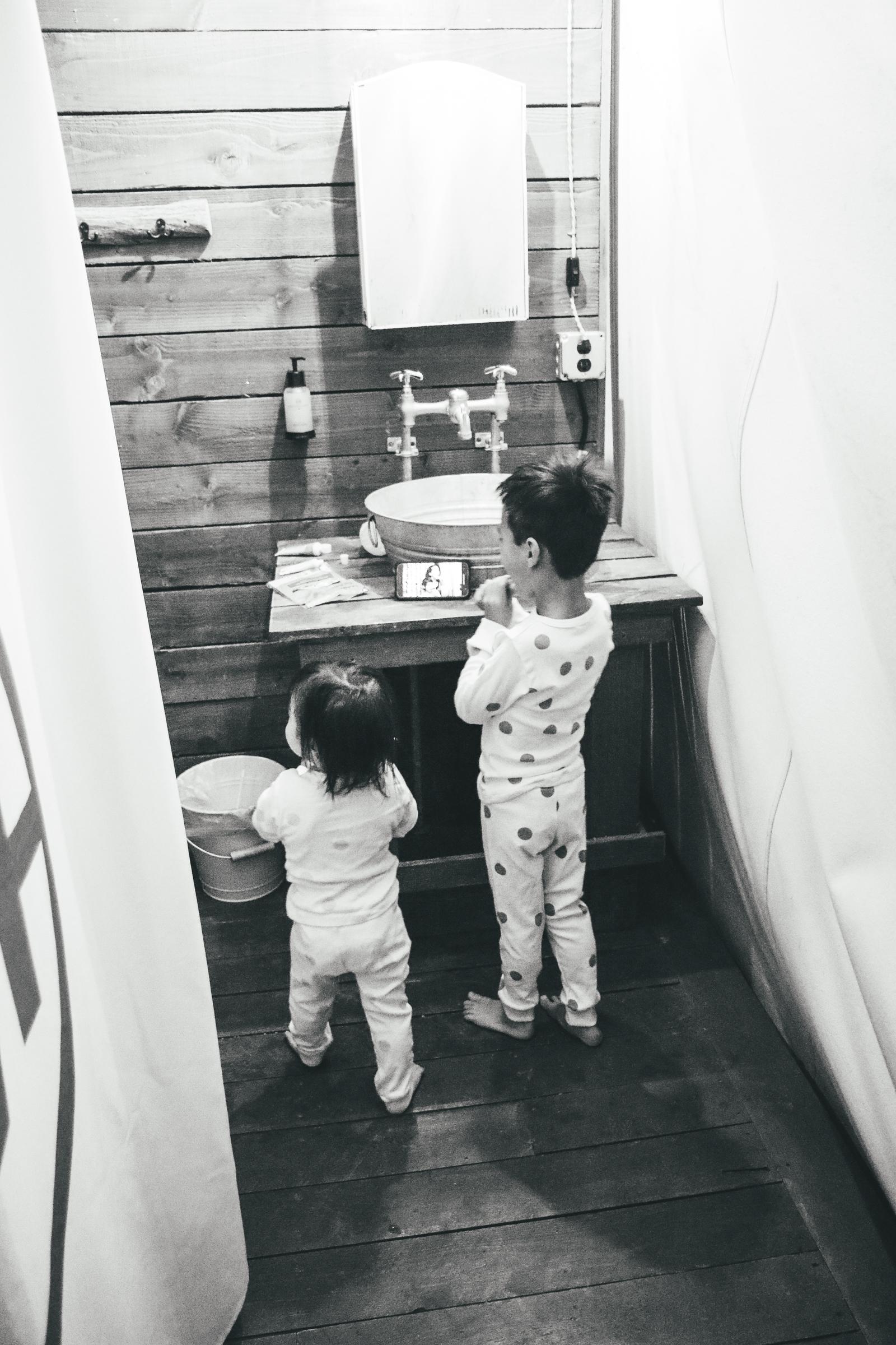 Grand Tent Bathroom at Conestoga Ranch