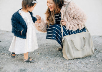 Mamas and Minis Style: Fall Dresses and Faux Fur + Giveaway!