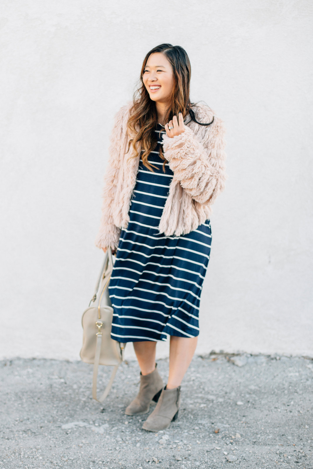 Stripes and Faux Fur