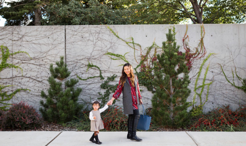 Mommy + Me Style: Fall Layers and Quilted Boots + GIVEAWAY!