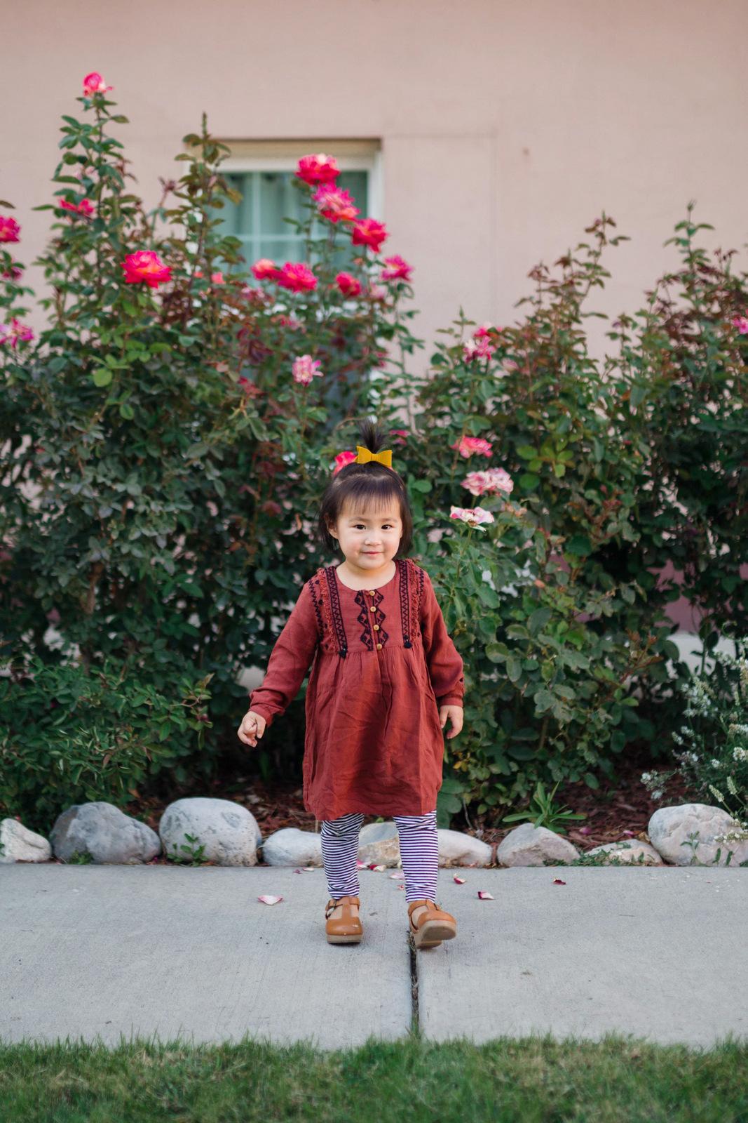 Toddler girl wearing Zar