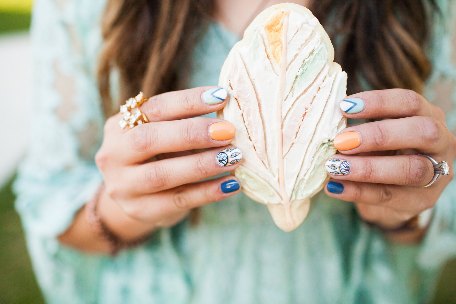 Feather cookies - Photo by Pierson Photo Company
