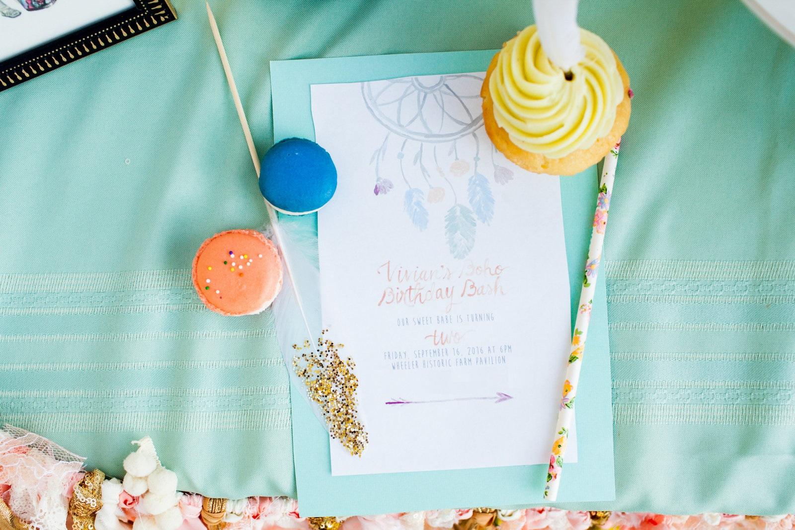 Boho Birthday Party Invites