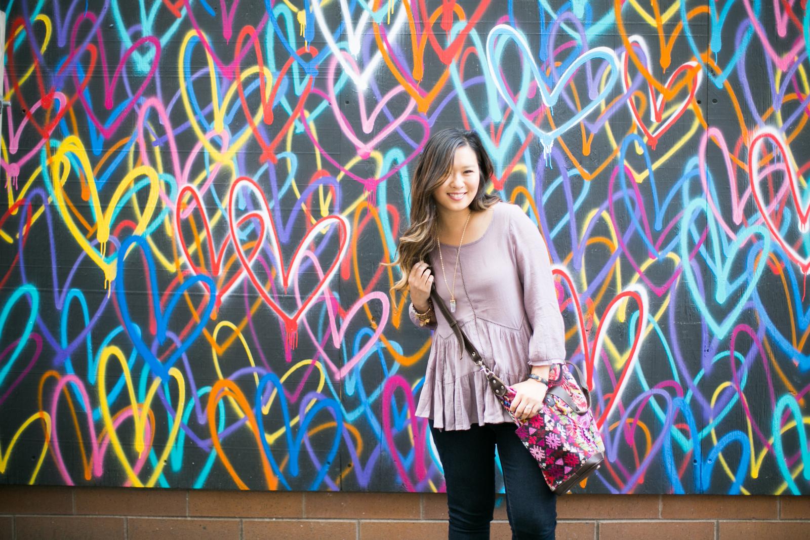 Chicago heart wall fashion