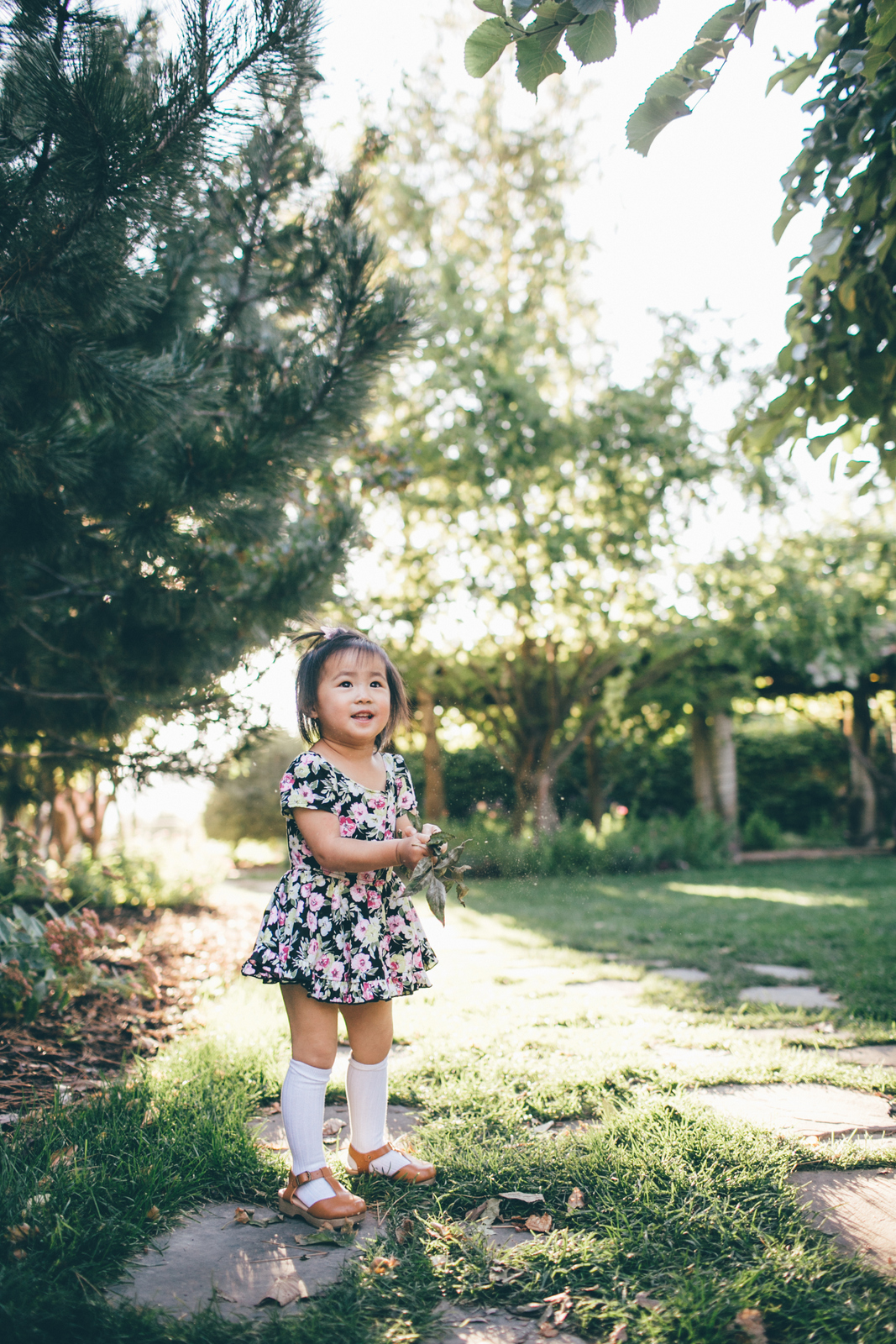 Mommy and Me Outfits: Black & Pink Floral Dresses by Sandy A La Mode