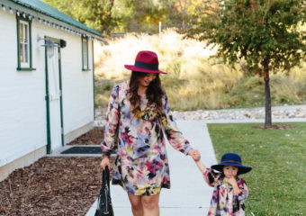 Mommy and Me Outfits: Watercolor Dresses