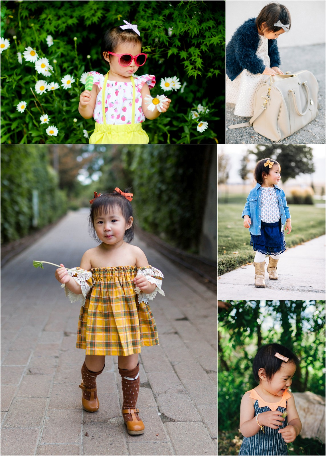 girl air accessories: clips and pigtails