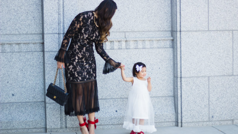 Mommy and Me Style: Fancy Dresses + Kid's Shoe Giveaway + Linkup!