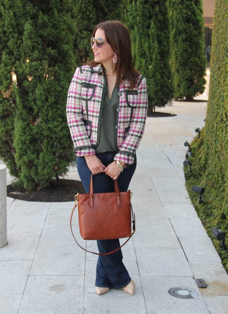 d-fall-outfit-idea-flared-jeans-tweed-jacket-745x1024