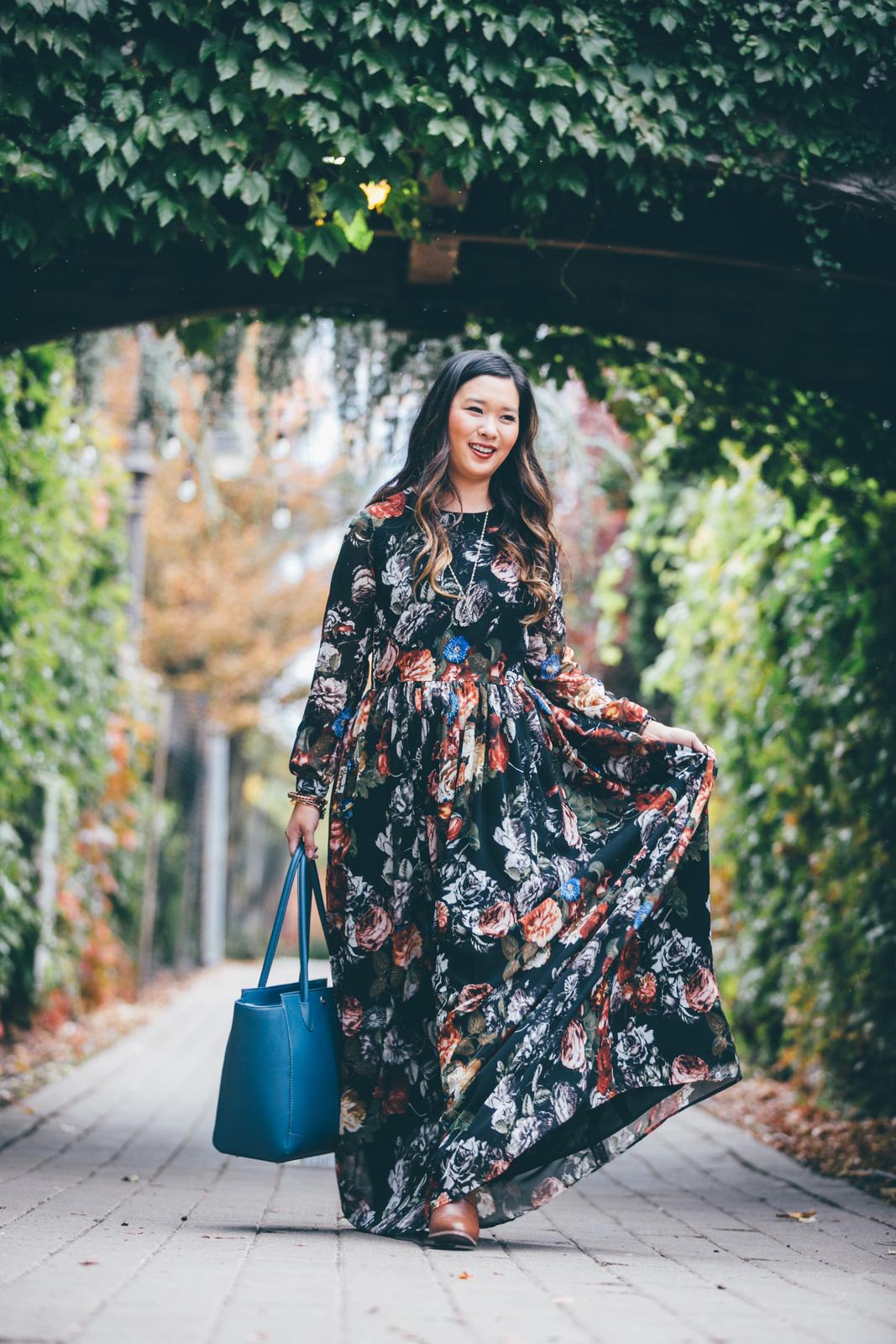 Shabby Apple Floral Maxi Dress