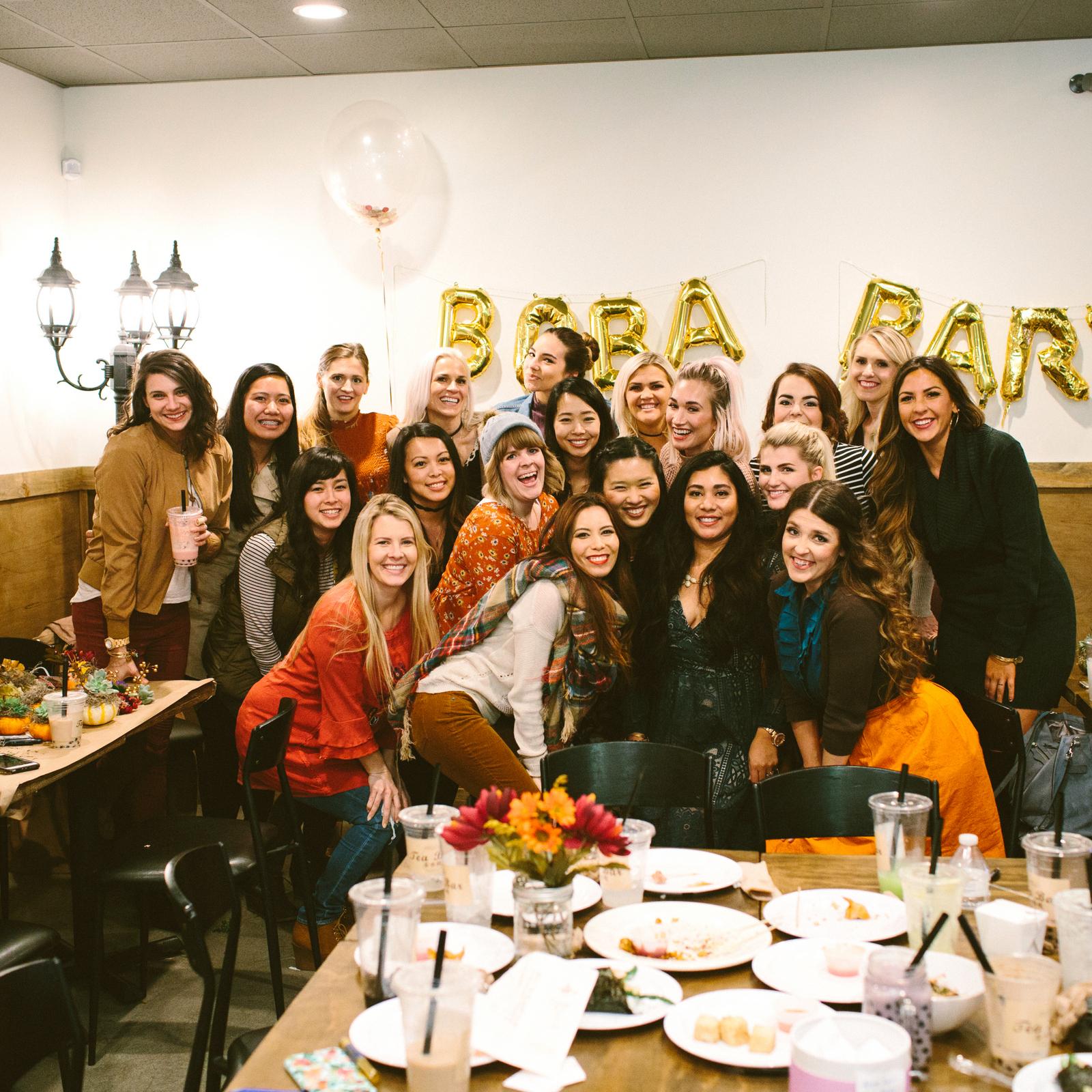Utah bloggers at Tea Bar in Salt Lake City, Utah