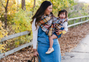 Mamas and Minis Style: Jumpers and Blanket Scarves