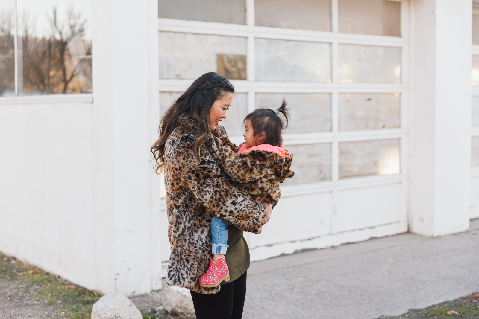 Mommy and Me Outfits by Sandy A La Mode: Adorable Leopard Coats