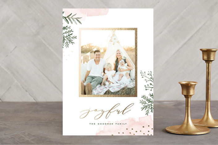 Minted Watercolor Winter Holiday Cards