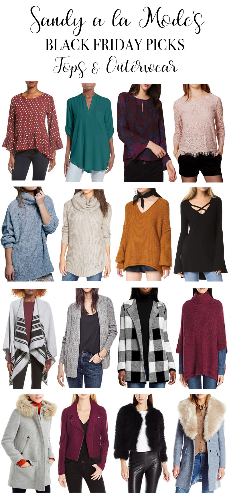 Black Friday Picks Tops and Outerwear