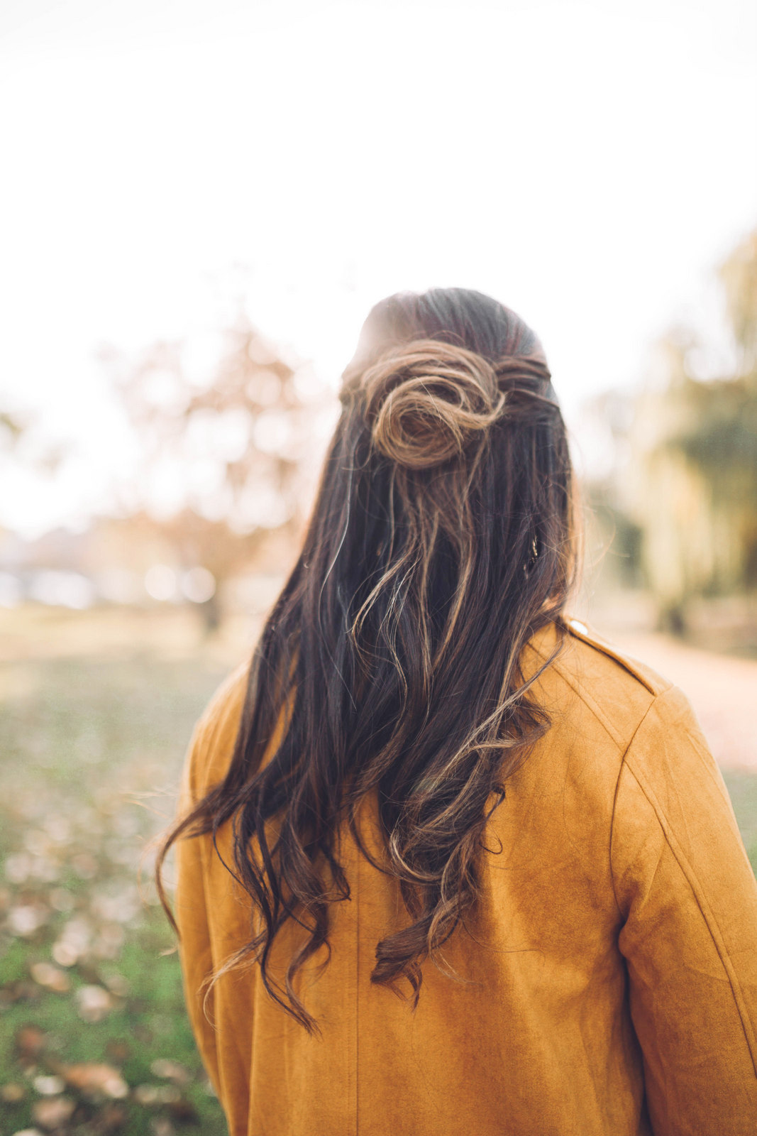 Rose bun hairstyle