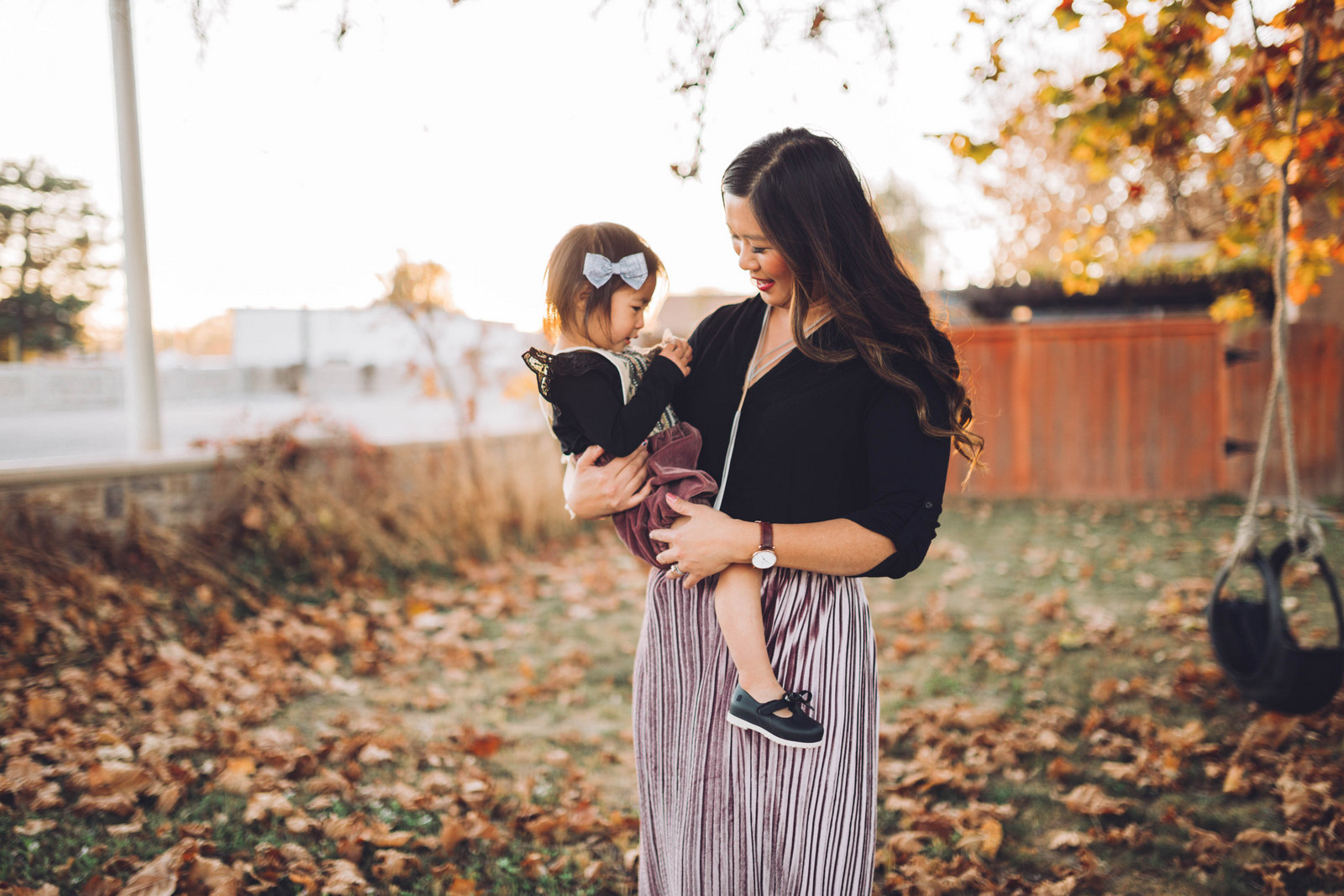 Mommy and me style: Mauve Velvet