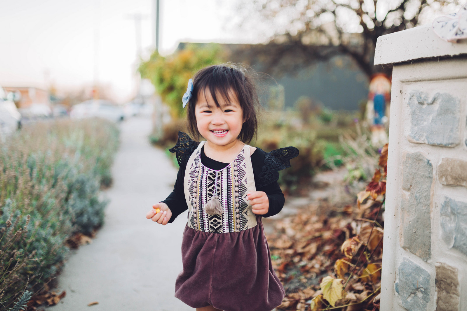 Toddler girl wearing Brass Razoo romper