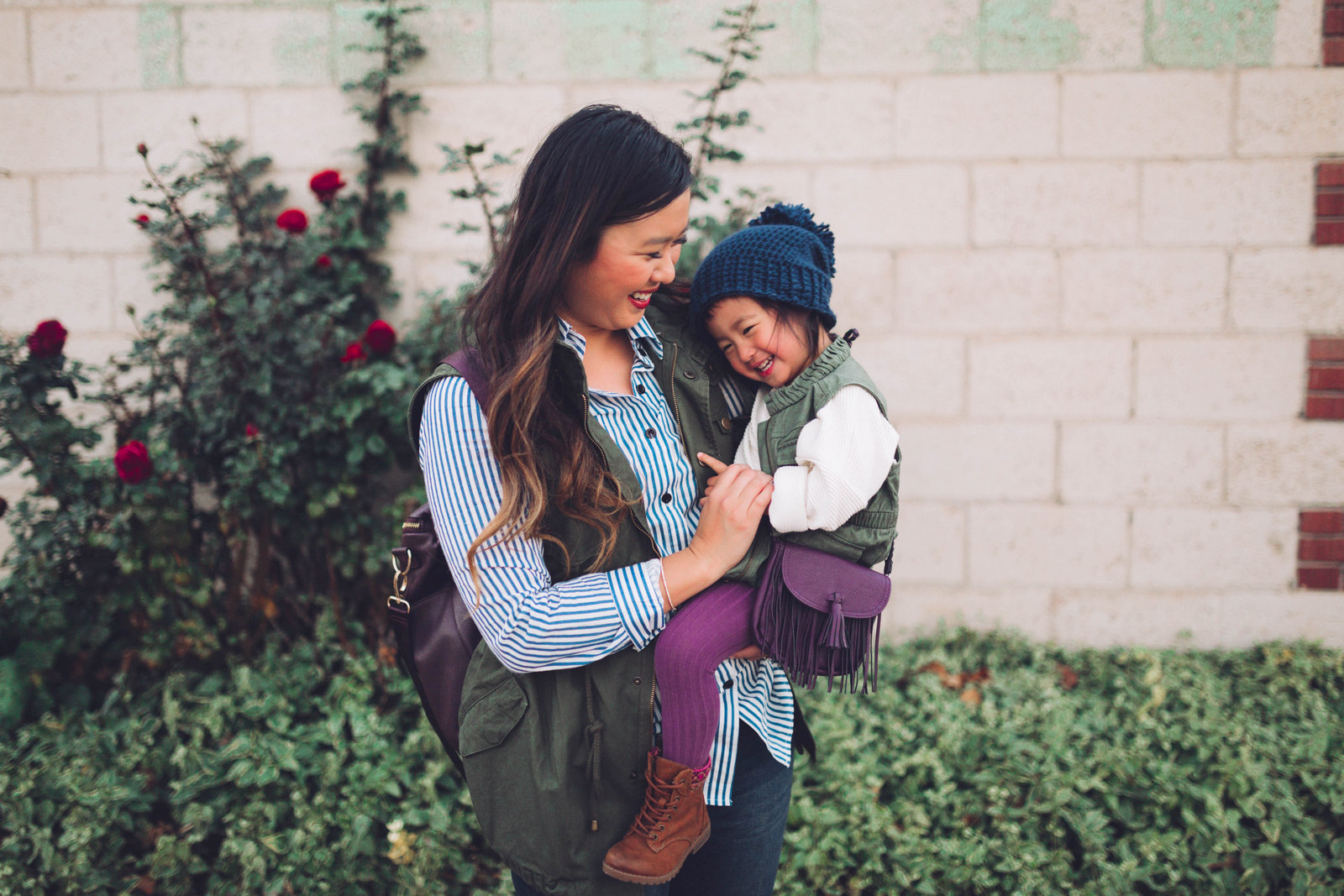Mommy and Me Outfits: Vests and Cozy Boots