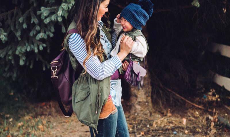 Mommy and Me Style: Vests and Cozy Boots + Linkup!