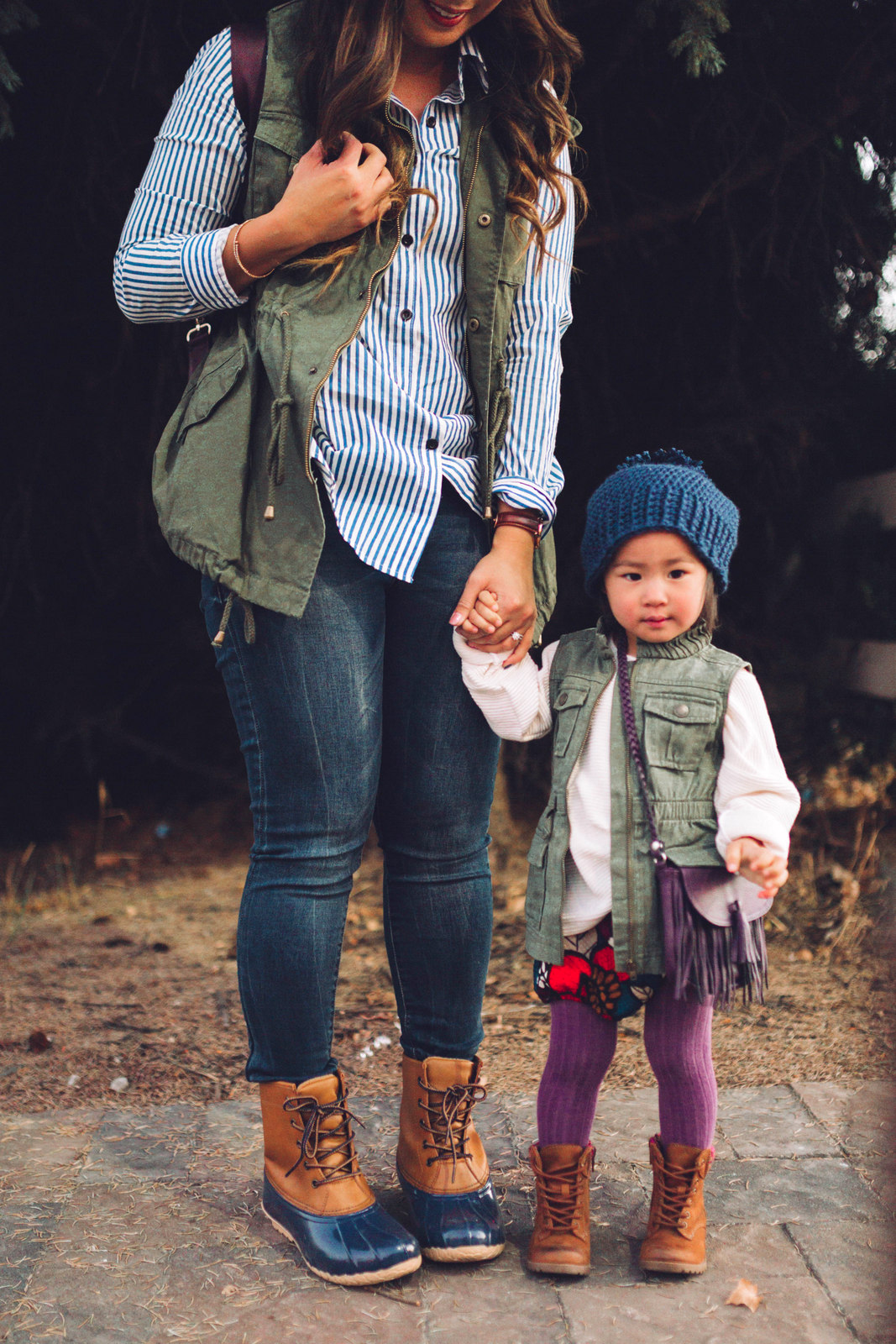 Mommy and Me Outfits: Vests and Cozy Boots from Payless