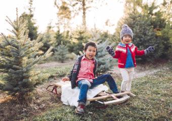 Sibling Fashion: Holiday Fair Isle and Layering