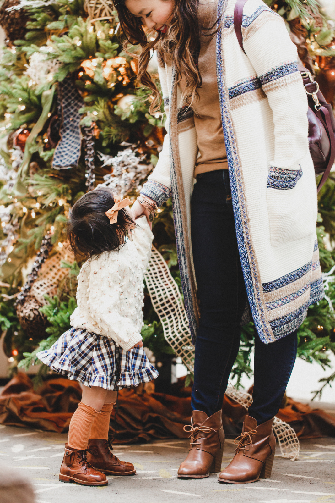 Mommy and Me Outfits by Sandy A La Mode: Cozy Knits and Brown Boots
