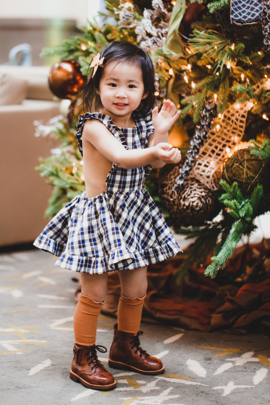 Numi Kids Plaid dress