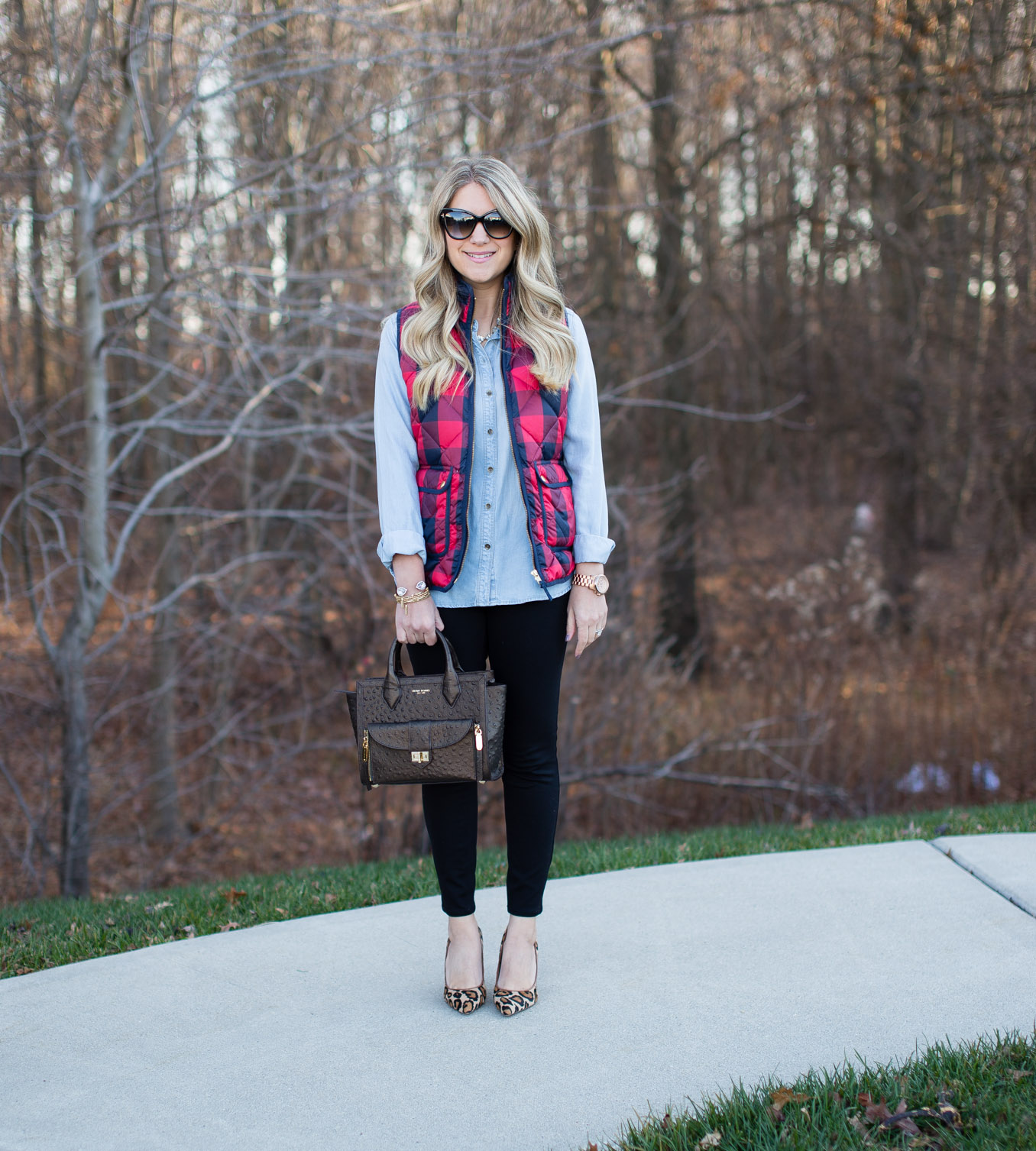 buffalo-plaid-vest-and-leopard-heels-1