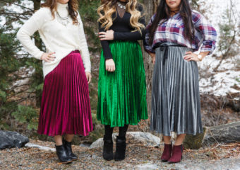 3 Ways To Style A Metallic Skirt