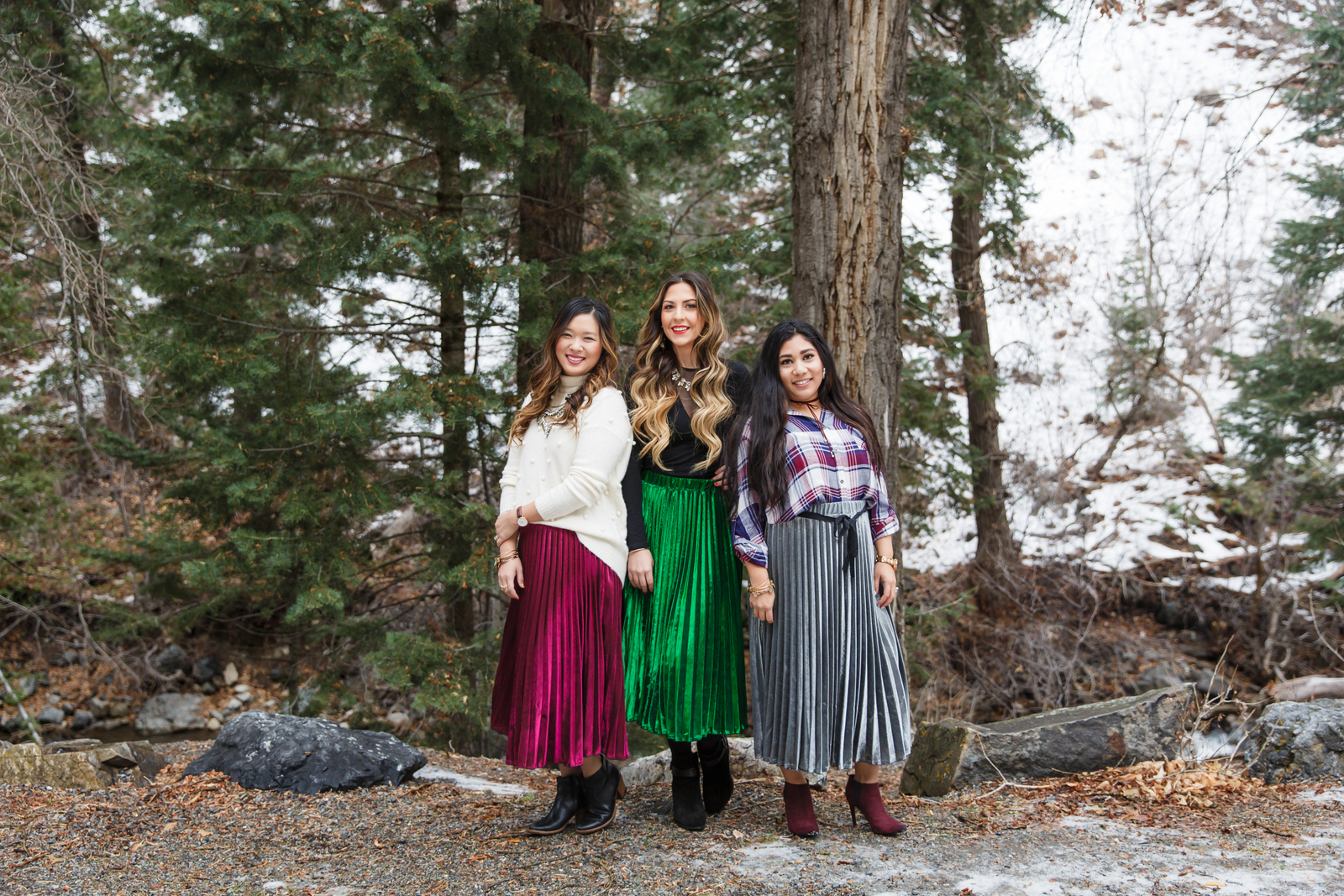 Novae Clothing Metallic Skirts