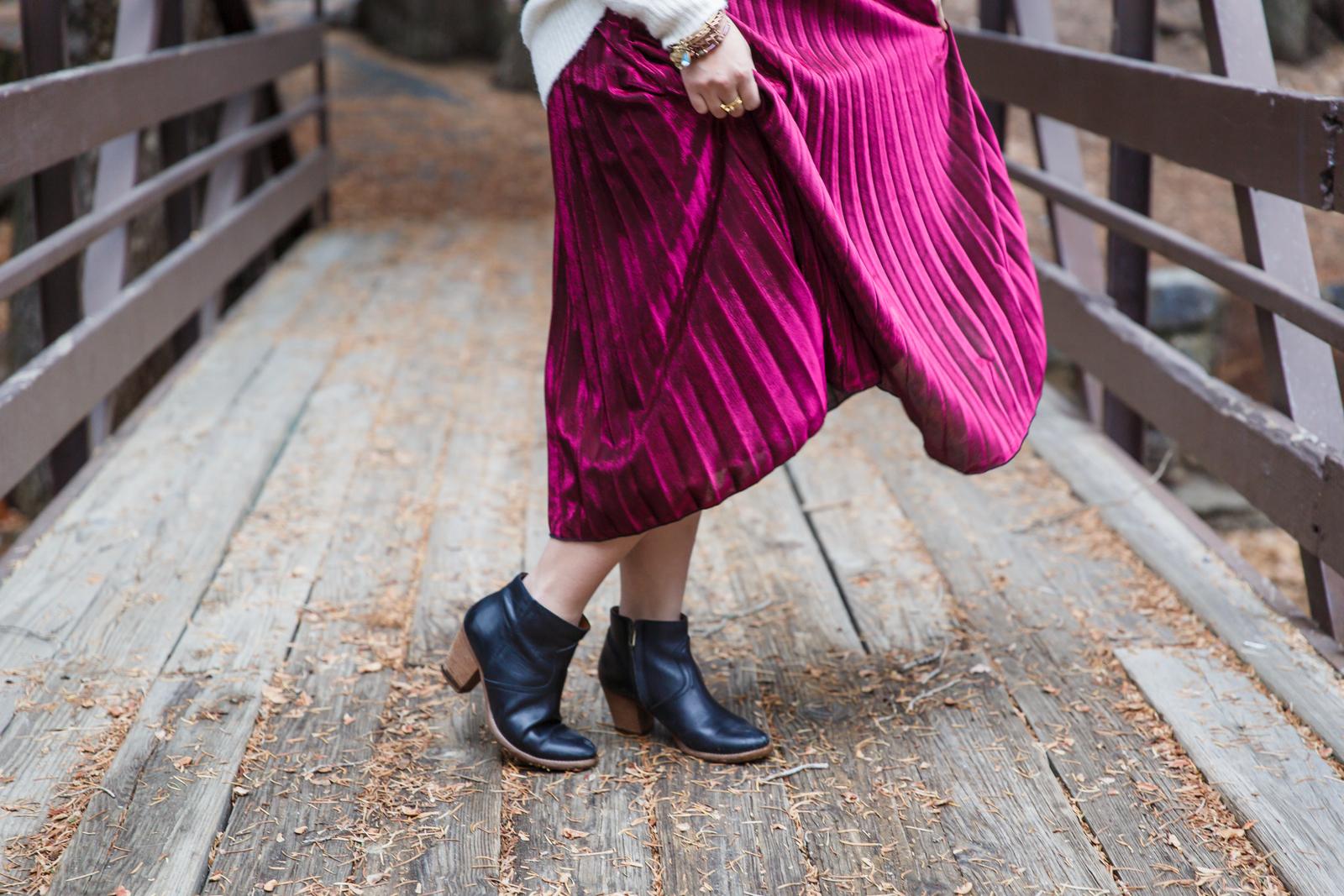 Madewell metallic boots