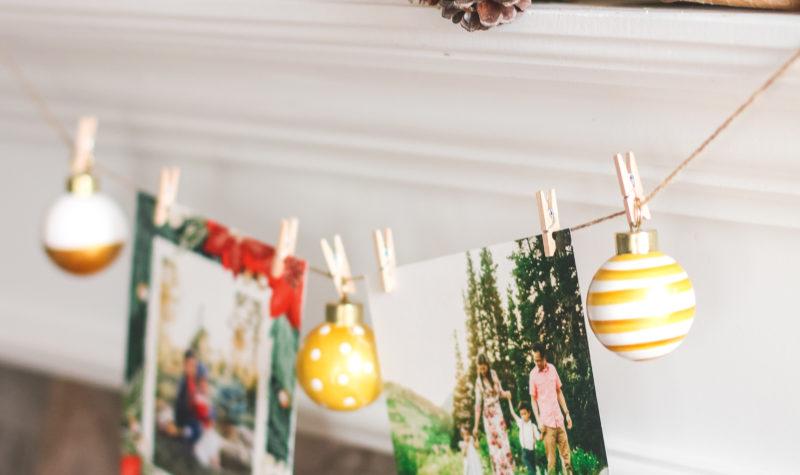 Holiday Card Mantel Display Idea