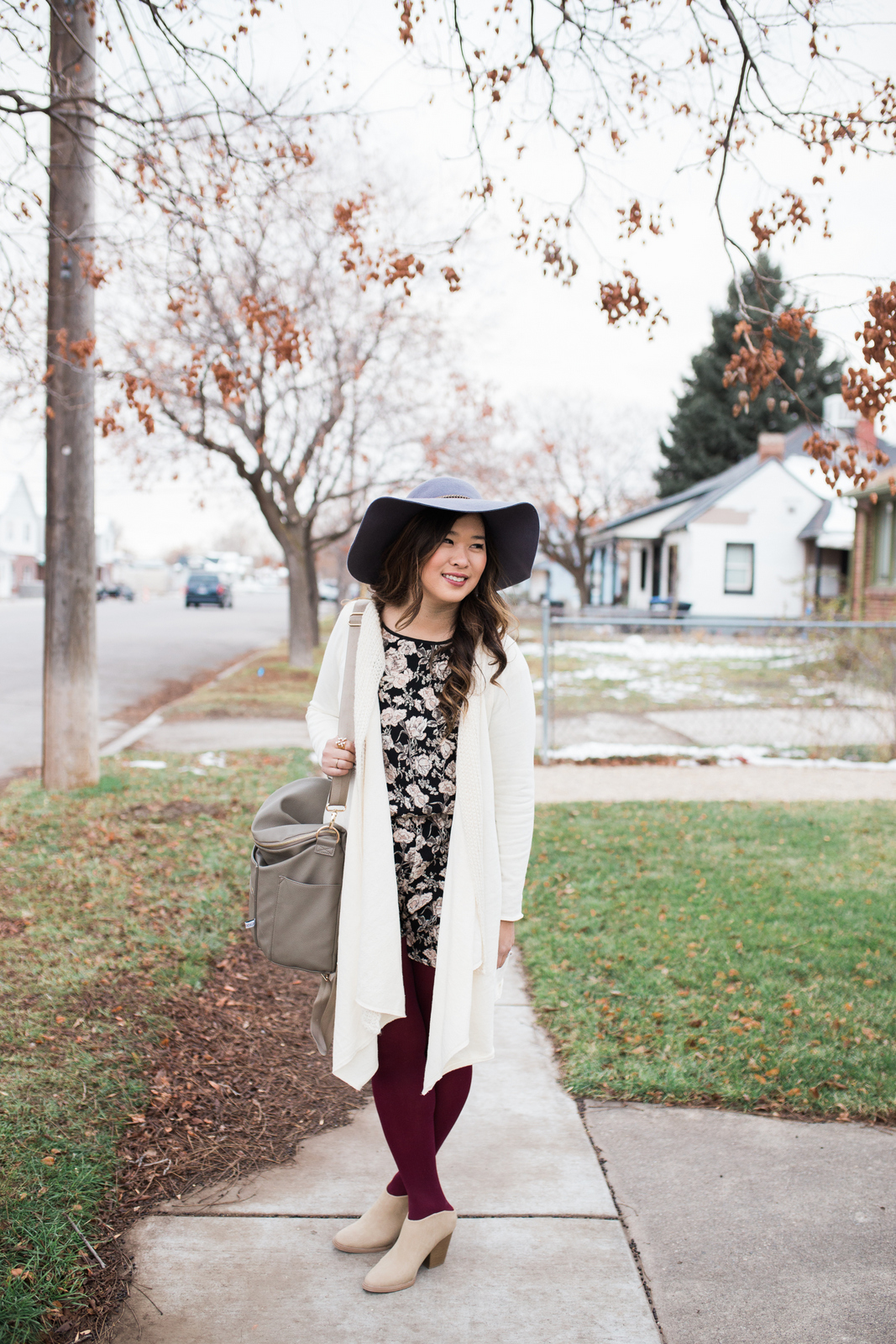 How to style a short romper in the winter