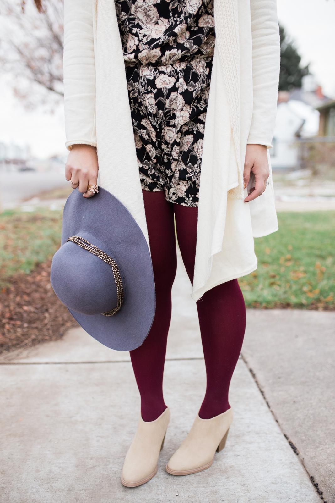 313804052db09 Short Rompers & Stylish Mules | Winter Fashion | Sandy A La Mode