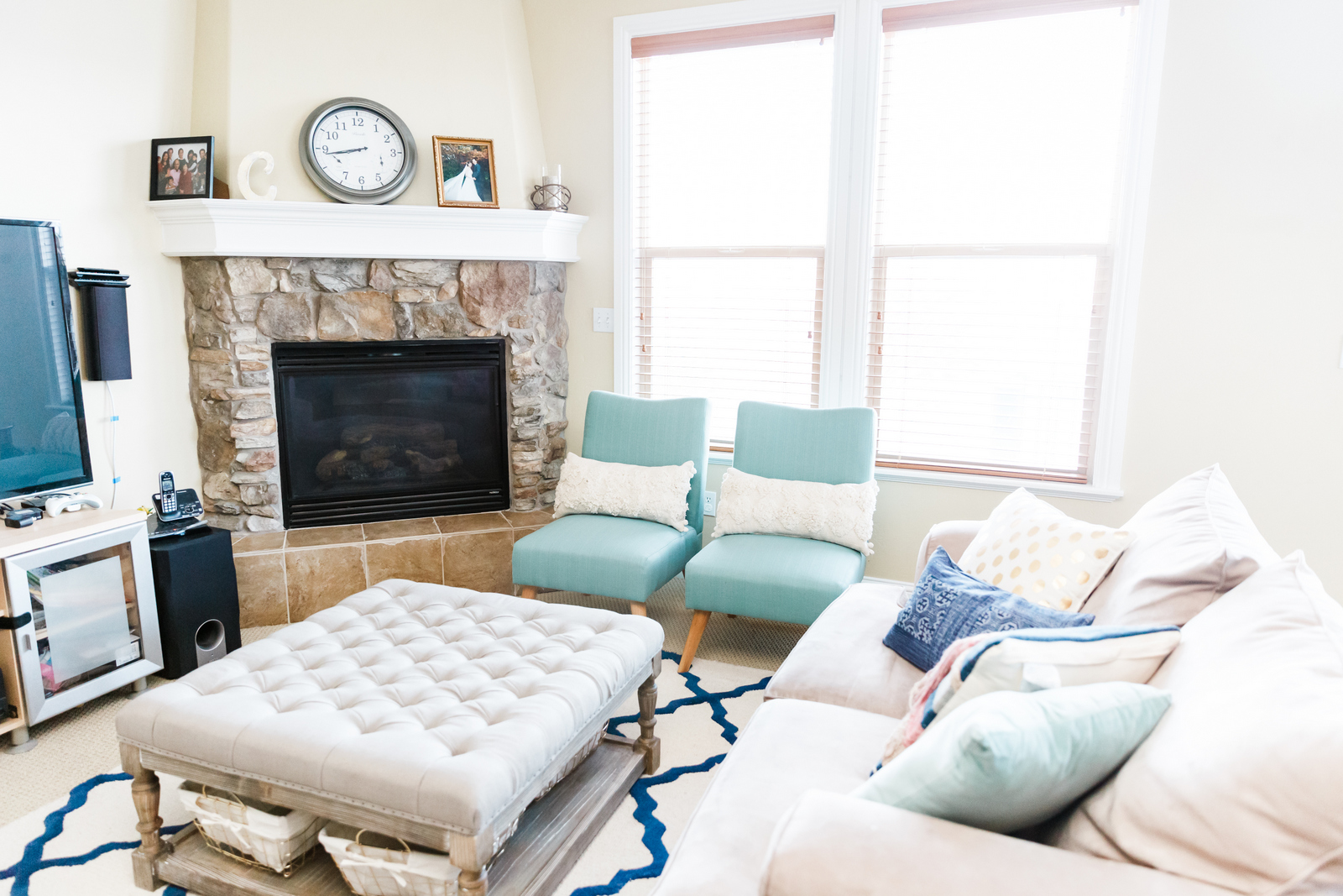 Living room update with kohls accent chairs
