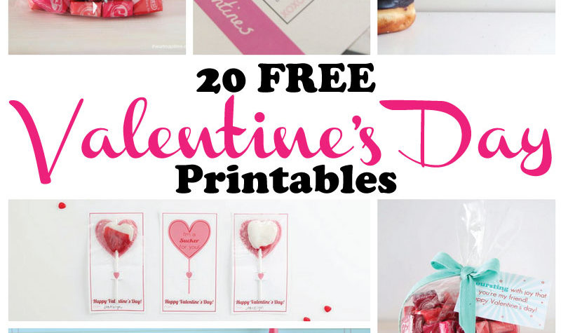 20 FREE Valentines Day Printables Your Children Will Love